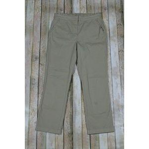 J. Crew Cropped Ruffle Chino Pants C2041